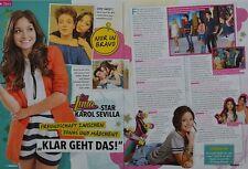 KAROL SEVILLA - 2 Seiten Bericht - Soy Luna Clippings Artikel Fan Sammlung NEU