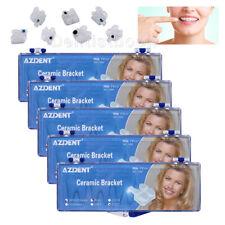 5box Azdent Dental Orthodontic Bracket Ceramic Braces Roth 022 345 With Hooks