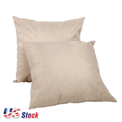 10 PACK Linen Sublimation Blank Pillow Case Cushion Cover DIY Printing