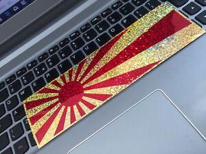 Japan-red-gold-sparkle-sunrise-flag-JDM-slap-CAR-STICKER-jdm-drift-jap-sticker