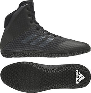 hot sale online bfc7f 01ad8 Image is loading Adidas-2018-Mat-Wizard-4-Carbon-Black-Wrestling-