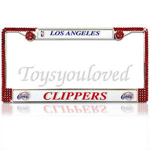 La Clippers Los Angeles Bling License Plate Frame Made W