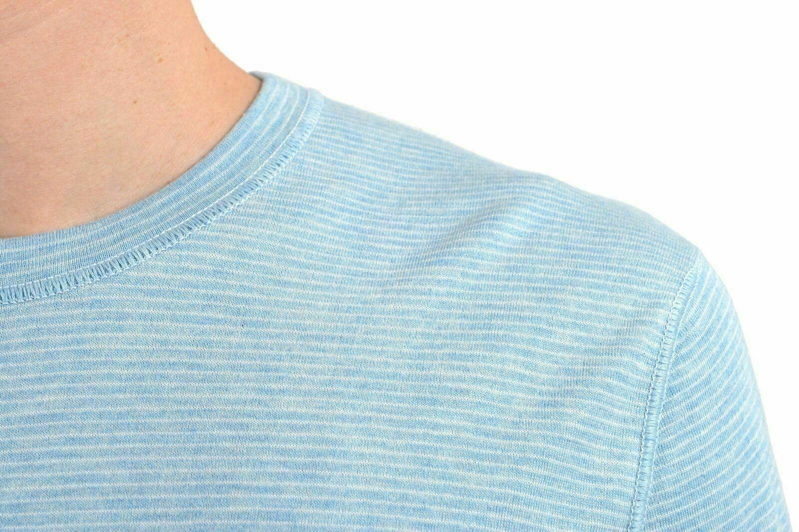 Kiton Napoli Uomo Cashmere Manica Corta Corta Corta collo Tondo Camicia Casual USA XXL It 503be4