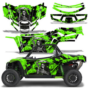 Details about UTV Graphics Kit Decal Sticker Wrap For Arctic Cat Wildcat XX  2018+ REAPER GREEN