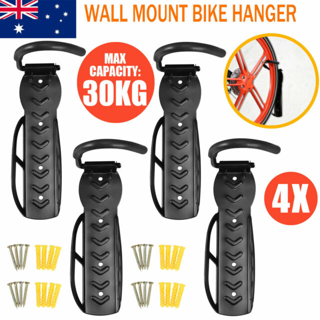 4PCS Bicycle MTB Bike Wall Mount Hook Hanger Garage Storage Holder Rack Stand US