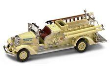 1938 Ahrens-Fox VC Fire Engine Boonton,NJ. 1:43 Die-Cast Yat Ming 43003 Yellow