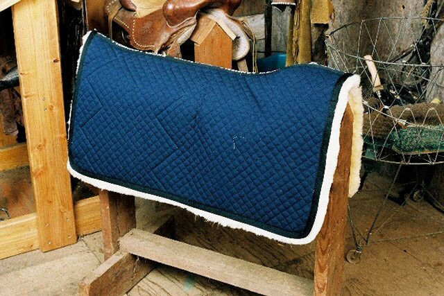 Western  Saddle Blanket Sheepskin Lined - bluee  save 60% discount