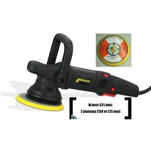 Lucidatrice-Roto-Orbitale-KRAUSS-S21-900-watt-con-Platorelli-125-et-150-mm-230V