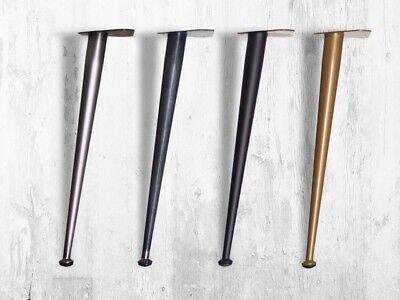 """""""seventies"""" H41cm Gamba Conica Per Tavolo Ferro, Hairpin Legs, Design Anni 50'"""