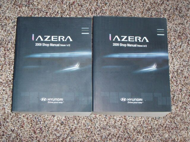 2009 Hyundai Azera Gls Limited Workshop Shop Service Repair Manual Set Vol  1