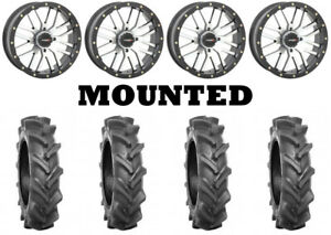 Kit 4 BKT AT 171 Tires 30x9-14 on System 3 ST-3 Machined Wheels POL