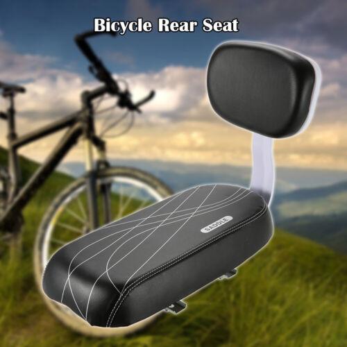 Bicycle Bike Rear Seat Cushion Rack Armrest Footrest Set Back Seat Child L4M6