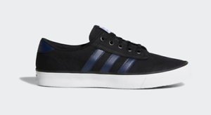 ADIDAS-MENS-TRAINERS-CASUAL-SHOES-KIEL-BLACK-BLUE-NEW-BOXED-TAGS-SIZES-6-8-9-11