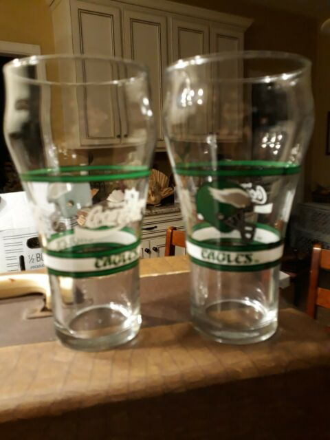 NFL Pint Glass Cup Set of 2 NFL Team Philadelphia Eagles