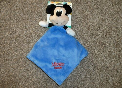 Disney Baby Mickey Mouse Security Blanket Kids Preferred Blue Boys Lovey NWT