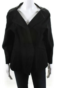 M-M-Lafleur-Womens-One-Button-Fitted-Blazer-Black-Size-16