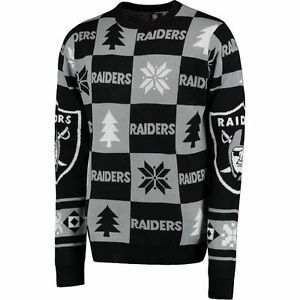 Oakland Raiders Ugly Patches Christmas Sweater New All Sizes Ebay