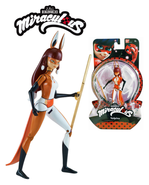 """Miraculous Ladybug Figure Doll VOLPINA 5.5"""" 14cm 39871 Bandai PAKAGE DAMAGED"""