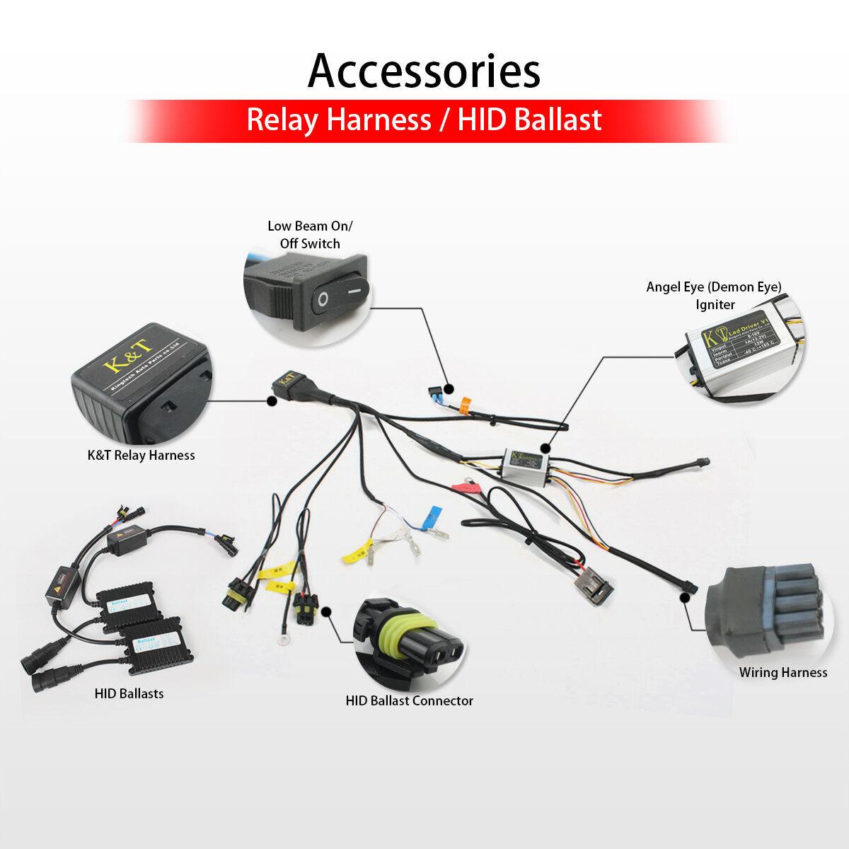 Angel Eye Hid Projector Custom Headlight Assembly Fit Kawasaki Nijia Wiring Harness Diagram Zx 6r 07 08 Ebay