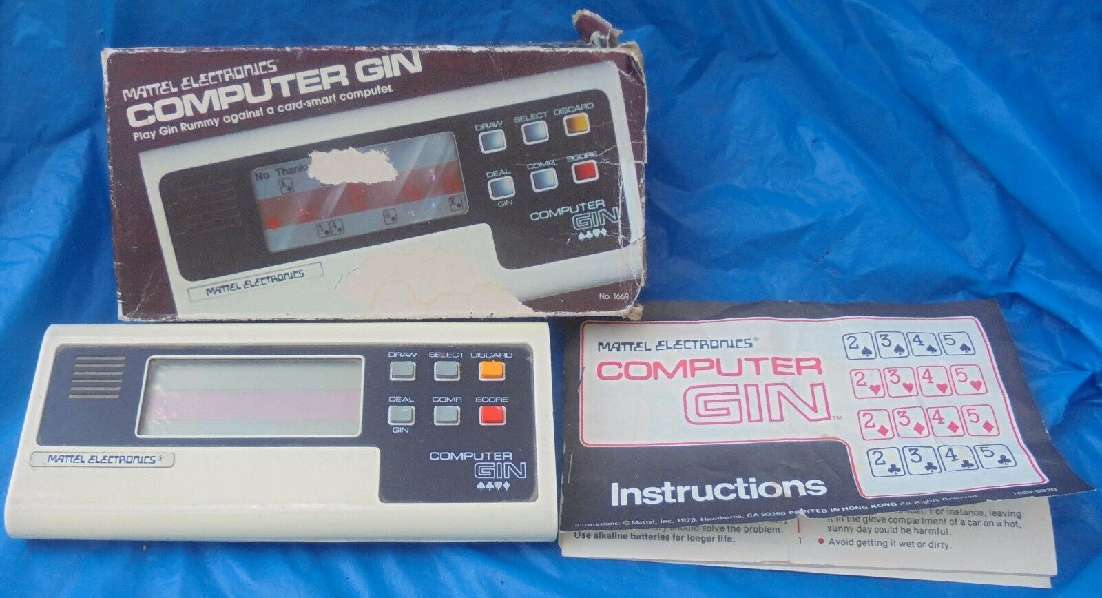 1979 Mattel Electronics Computer Gin Handheld Game Complete W  Box Instructions