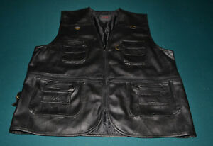 Coats & Jackets Mens Hero Pelle Vintage Brown Suede Leather Davidson Motorcycle Vest 48 Chest Men's Clothing