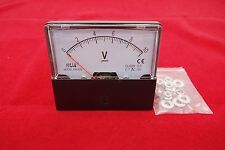 Ac 0 10v Analog Voltmeter Analogue Voltage Panel Meter 6070mm Directly Connect