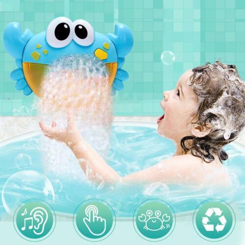 Crab Bubble Machine Music Bubble Maker Cartoon Baby Bath Shower Plastic Toy