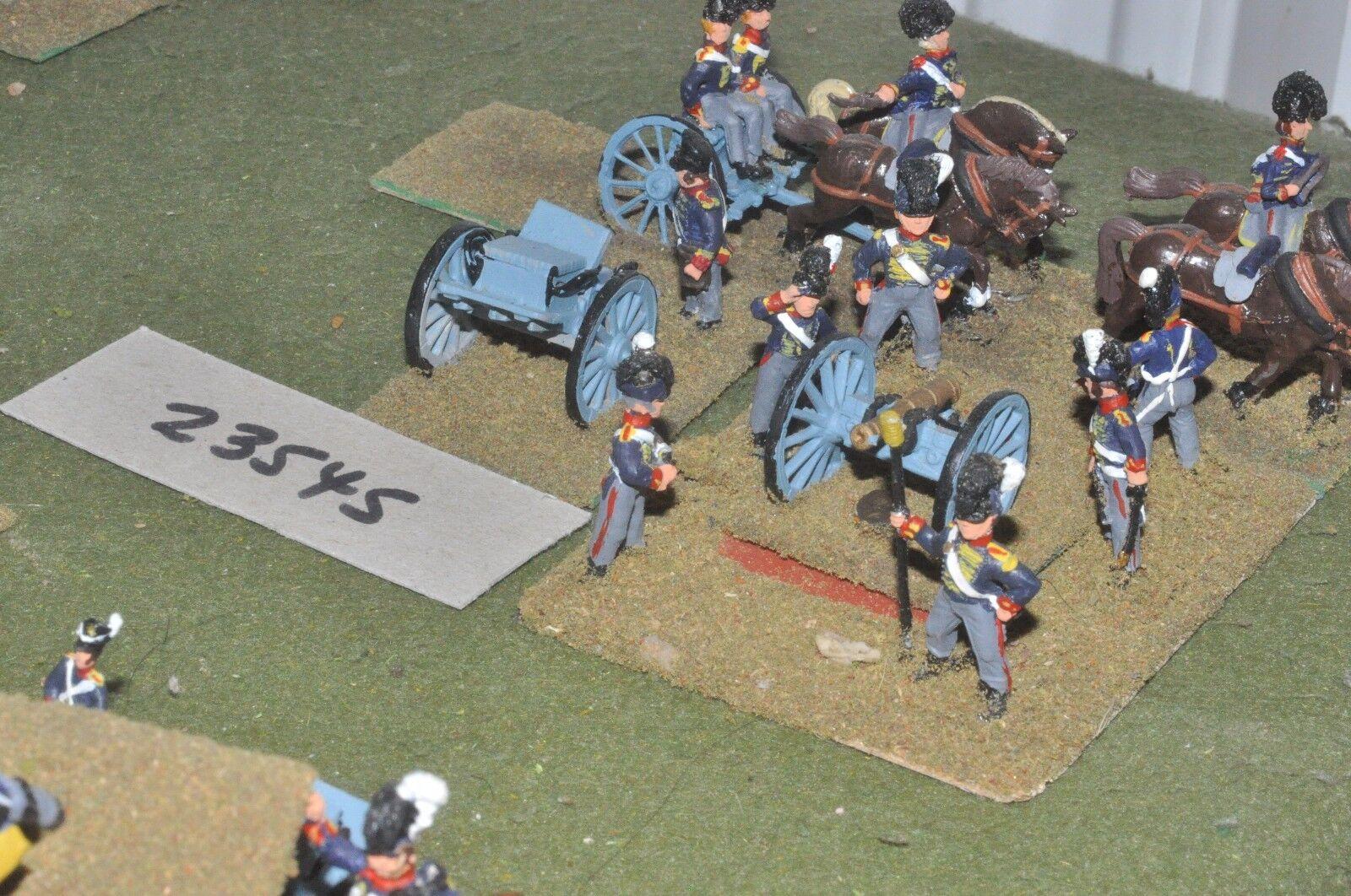 25mm napoleonic   british - horse 1 gun & limber - art (23545)