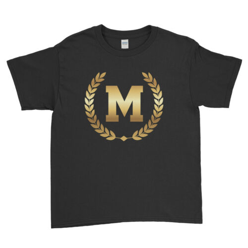 Letter Personalised Printed T Shirt Gifts For Him Her Men Women Kids T-Shirt