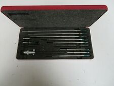 Starrett Inside Micrometer Set With Case Missing One Rod Of10