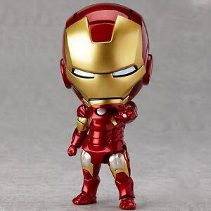 Cute ! Avengers Mini IRON MAN Tony Stark 10cm PVC Mark 7 ...