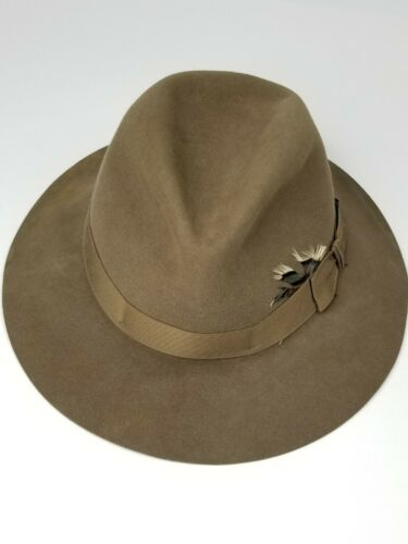 Vintage Stetson Green Wool Western Cowboy Hat With