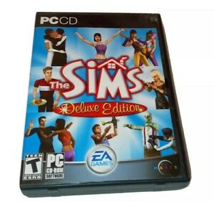 The Sims 1 Deluxe Edition PC CD ROM Game 2 Disc EA GAMES Computer Simulation