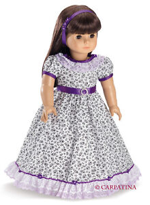 Doll-Clothes-18-034-Dress-Victorian-Flower-Carpatina-Made-For-American-Girl-Doll