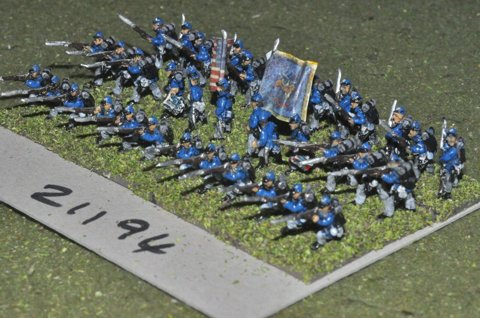 15mm ACW   union - american civil war small infantry 36 figures - inf (21194)