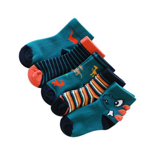 5Pairs Baby Boy Girls Cute Ankle Socks Soft Cotton Anti Slip Grippers Warm Socks