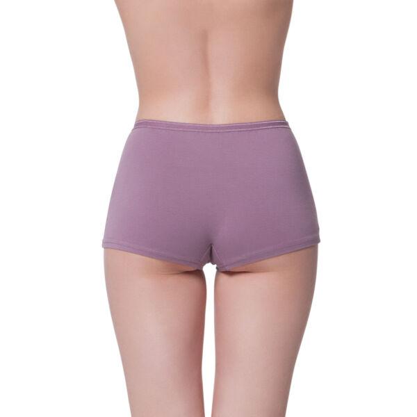 6 Stück Damen Pants High-Waist Boy Shorts von Gomati aus Baumwoll-Stretch