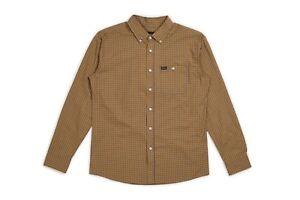 NWT-Brixton-Howl-Woven-Button-Down-Shirt-L-S-Mens-M-Medium-Navy-BX135