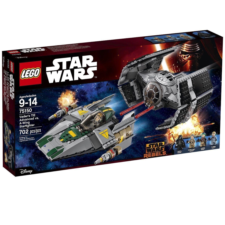 75150 DARTH VADER'S TIE ADVANCED VS A-WING star wars lego NEW legos set NISB