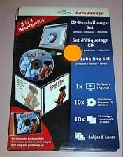 Data Becker CD Beschriftungsset für Inkjet und Farblaser 10 Blatt