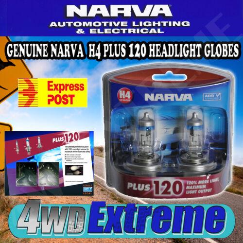 1 of 1 - NARVA H4 +120% PLUS 120 HALOGEN HEADLAMP LIGHT BULBS NEW GLOBES 48362BL2