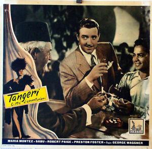 EXOTIC-AVENTURE-TANGIER-MARIA-MONTEZ-1946-FOTOBUSTA-GEORGE-WAGGNER