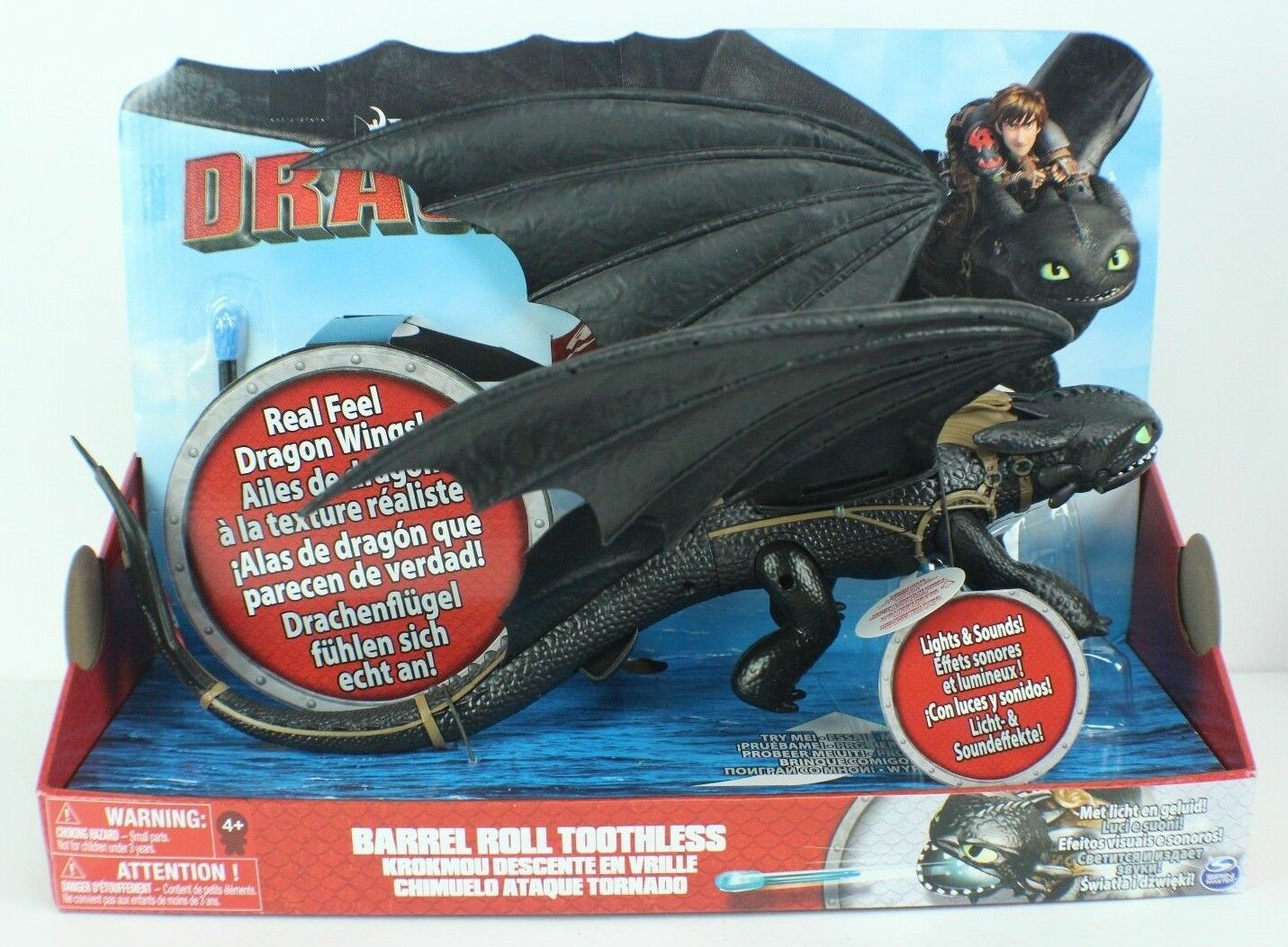 DreamWorks' Dragons with Lights and Sounds Action Figure - Barrel Roll Toothless