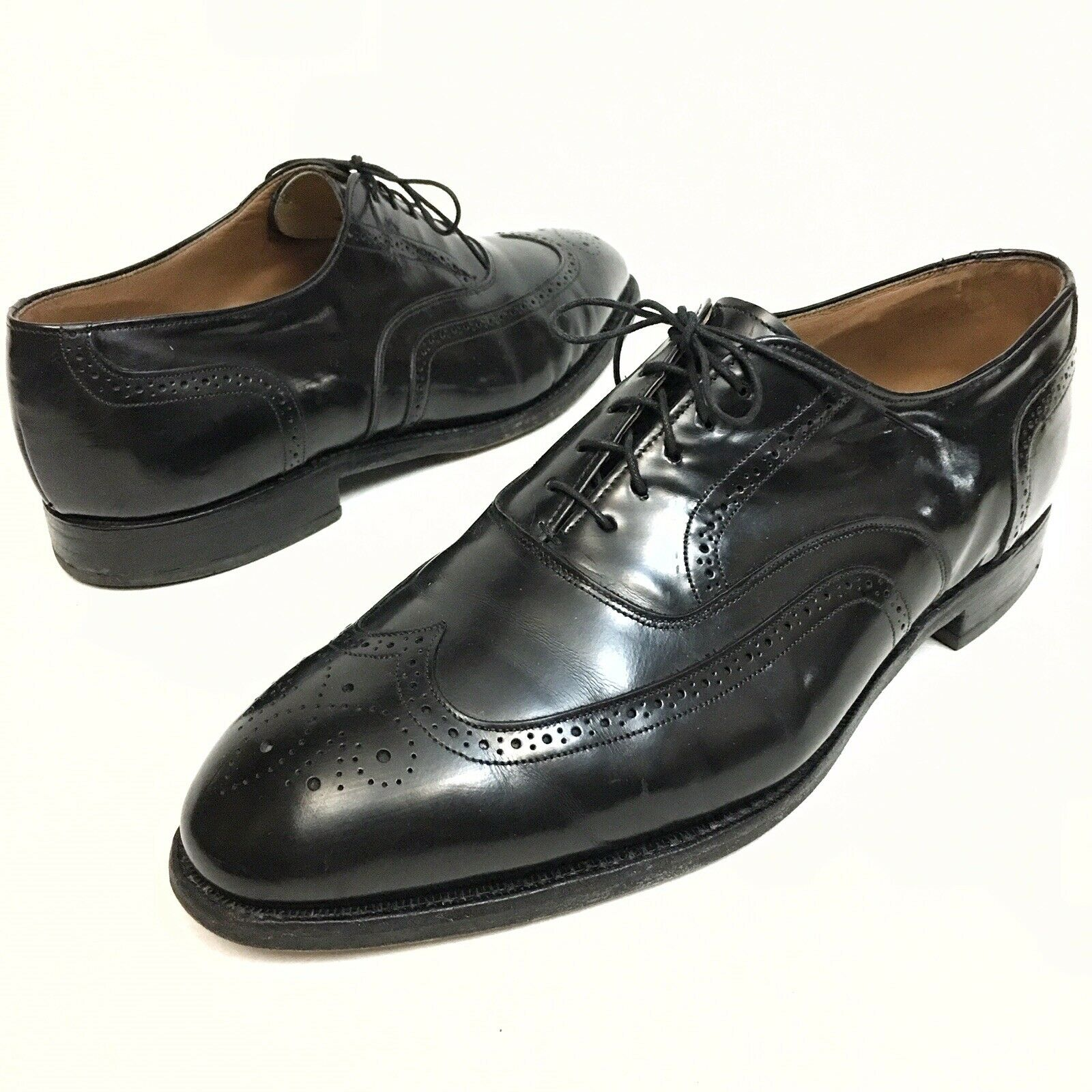 ✅💟✅ Johnston & Murphy Optima Men' Shoes Size 11 E Black Oxford Wingtips Dress
