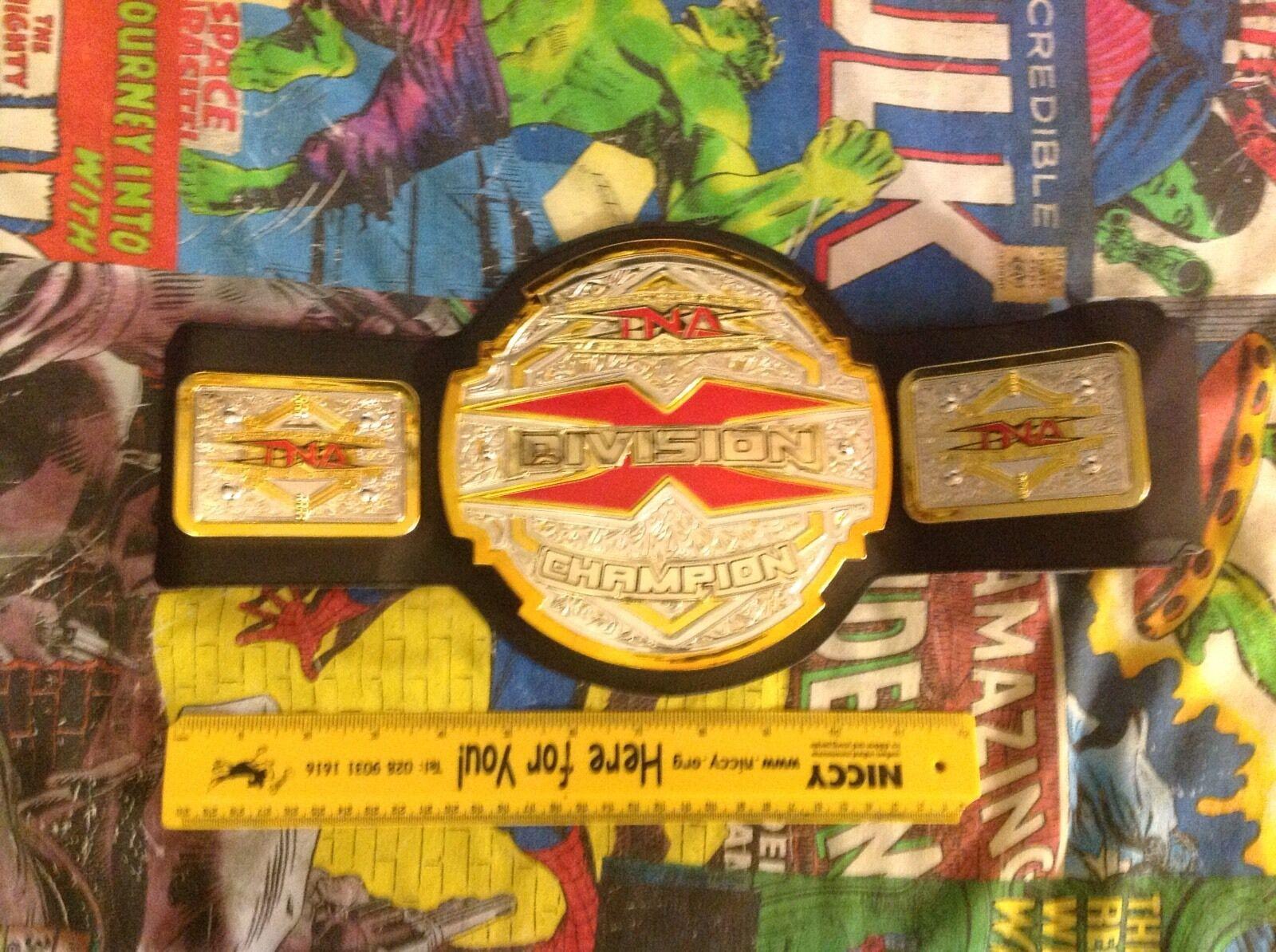 TNA X DIVISION Championship REPLICA Cintura 2010 Jakks Pacific-MOLTO RARO