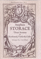 Storace - Three Sonatas for Keyboard, Violin & Cello (Sonata No. 3 in E-flat)