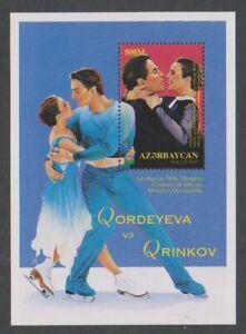 Azerbaijan - 1997, Winter Olympic Games. Ice Skating sheet - MNH - SG MS430