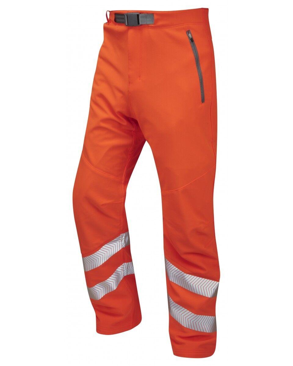LEO Workwear LANDCROSS WT01 Hi Vis lavoro pantaloni CLASSE 1 binario Go / RT