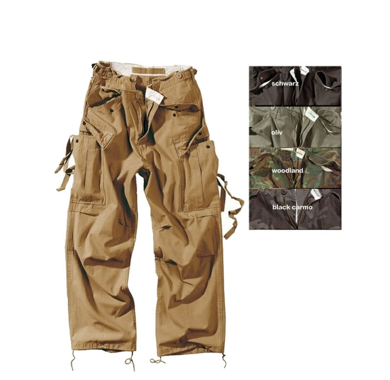 Surplus Vintage Fatigue Pantaloni Uomo Combat Esterno Esercito Bw 3596
