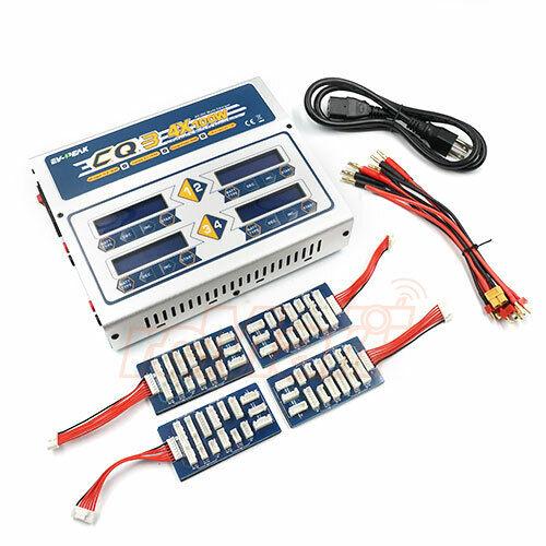 EV-PEAK CQ3 4 Port 10A 400W AC DC LiPo  LiHV Balance Battery Charger RC auto  CQ3  spedizione e scambi gratuiti.